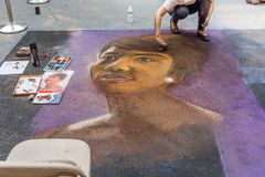 Chalkfest In Redmond royalty free stock photography