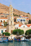 Chalki, halki Insel in Griechenland Lizenzfreie Stockbilder