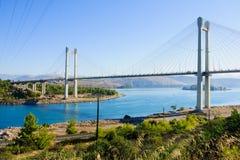 Chalkida-Brücke Lizenzfreie Stockbilder