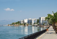 Chalkida seafront Stock Photography