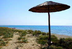 Chalkidiki beach royalty free stock image