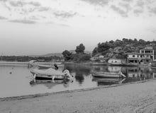 Chalkidiki Grecia el mar y la vela hermosos fotografía de archivo libre de regalías