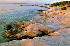 Chalkidiki landscape - Kavuroti Pez Royalty Free Stock Photos