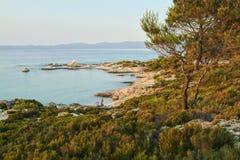 Chalkidiki landscape - Kavuroti Pez royalty free stock photo