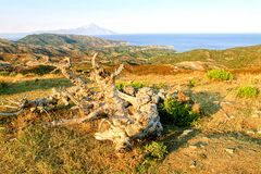 Chalkidiki landscape - Sithonia Royalty Free Stock Photos