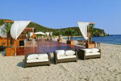 Chalkidiki na plaży obraz stock