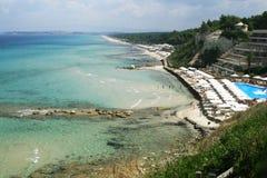 Chalkidiki plaża Zdjęcie Stock