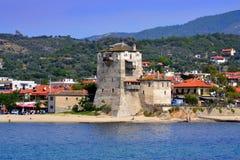 Chalkidiki resort village Greece Stock Image