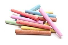 Chalks. Colored chalks on white background with soft shadows Stock Photos