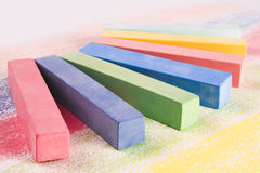 Chalks. School colour chalk for drawing Royalty Free Stock Photo