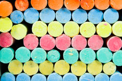 Chalks background. Photo of Pastel colored chalks Royalty Free Stock Image
