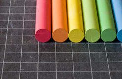 Chalks on chalkbord Royalty Free Stock Image