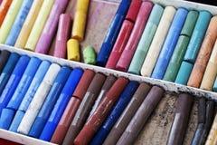 Chalks closeup beautiful background Stock Image