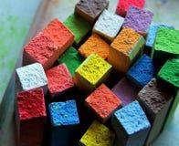 Chalks. Coloured blackboard chalks sticks for children Royalty Free Stock Photos
