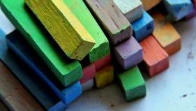 Chalks. Coloured blackboard chalks-  sticks for school Stock Photo