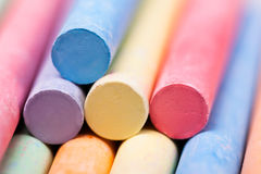 Chalks pieces colorful Royalty Free Stock Photos