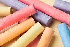 Chalks pieces colorful Royalty Free Stock Photo