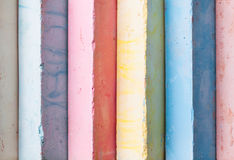 Chalks pieces colorful Stock Photos