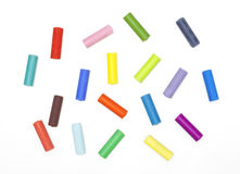 Chalks in a variety of colors Stock Photo