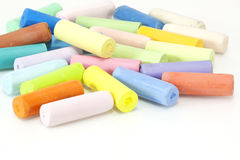 Chalks in a variety of colors Royalty Free Stock Images