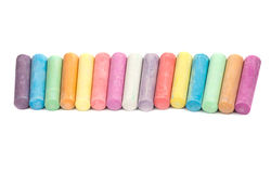 Chalks in a variety of colors arranged Stock Image