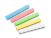 Chalks on white background Stock Image