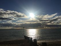 Chalkwell Beach, Southend on Sea, Essex royalty free stock image