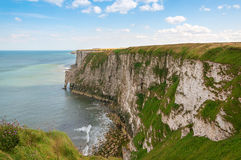 Chalky cliffs at Bempton in Yorkshire UK Stock Photography