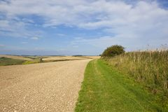 Chalky soil and bridleway Royalty Free Stock Photo