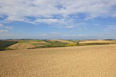 Chalky soil and scenery Royalty Free Stock Photo