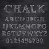 Chalky stilsort Arkivfoto