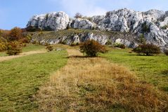 Chalky white rock in palava Stock Images