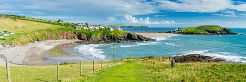 Challaborough Bay and Burgh Island Devon England Stock Image