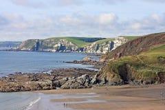 Challaborough Bay, Devon. Beach in Challabourough Bay, Devon royalty free stock photography