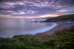 Challaborough Bay sunset Royalty Free Stock Image