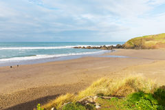 Challaborough beach Devon England uk popular for surfing near Burgh Island and Bigbury-on-sea Royalty Free Stock Photo
