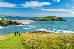 Challaborough-Bucht und Burgh-Insel Devon England Lizenzfreies Stockfoto
