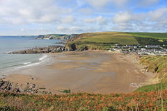 Challaborough zatoka, Devon Fotografia Royalty Free