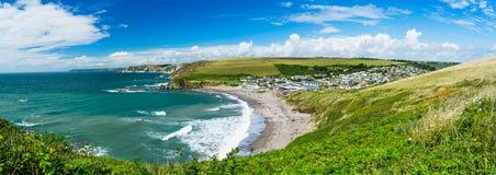 Challaborough zatoka Devon Anglia UK Obrazy Royalty Free