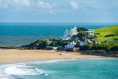 Challaborough zatoka i Burgh wyspa Devon Anglia Obraz Stock