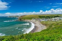 Challaboroughbaai Devon England het UK Stock Afbeelding