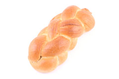 Challah. Loaf of challah bread isolated on white Royalty Free Stock Image