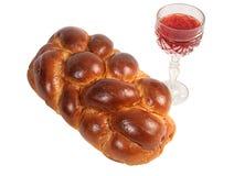 challah κρασί Στοκ εικόνα με δικαίωμα ελεύθερης χρήσης