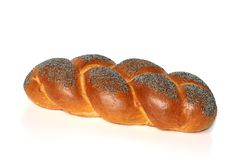 Challah with blue poppy Stock Image