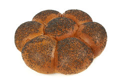 Challah with blue poppy Stock Photography