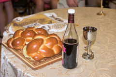 Challah bread for bar mitzvah Stock Image
