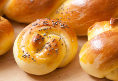 Challah bread and buns Royalty Free Stock Photo