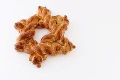 Challah bread shaped as David's star. Challah shaped as David's star - Jewish symbol stock image