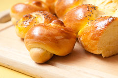 Challah egg bread and buns Royalty Free Stock Photo