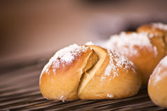 Challah for Shabbat. /Rosh Hashanah dusted with flour Stock Photography